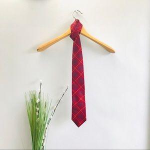 🔥5 for $20🔥 Men's Neck Tie Red Blue Silk